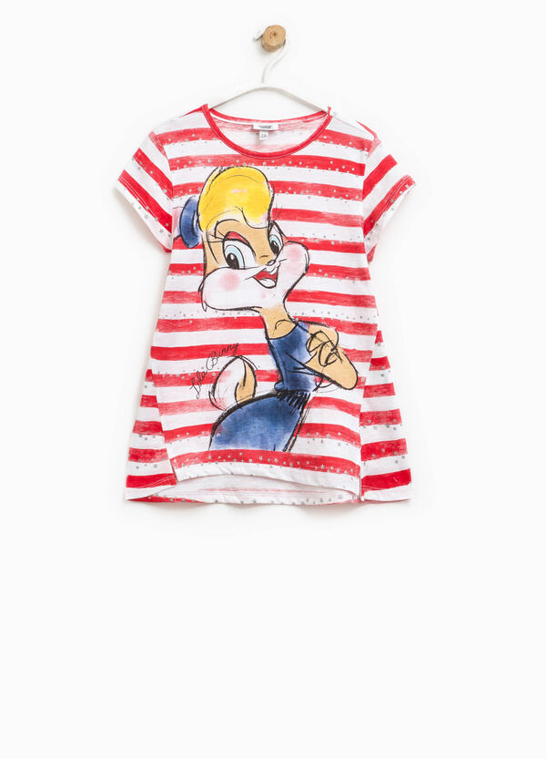 Striped T-shirt with Lola Bunny print | OVS