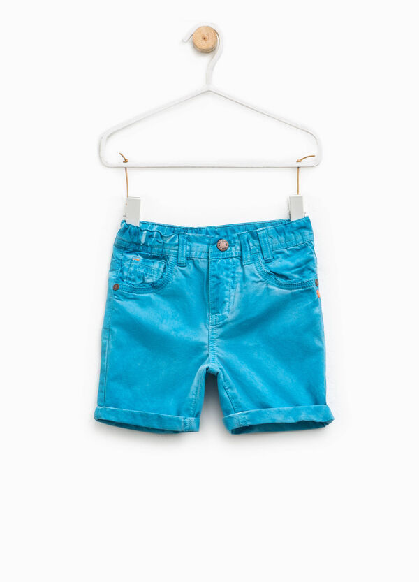 100% cotton Bermuda shorts with turn-ups | OVS