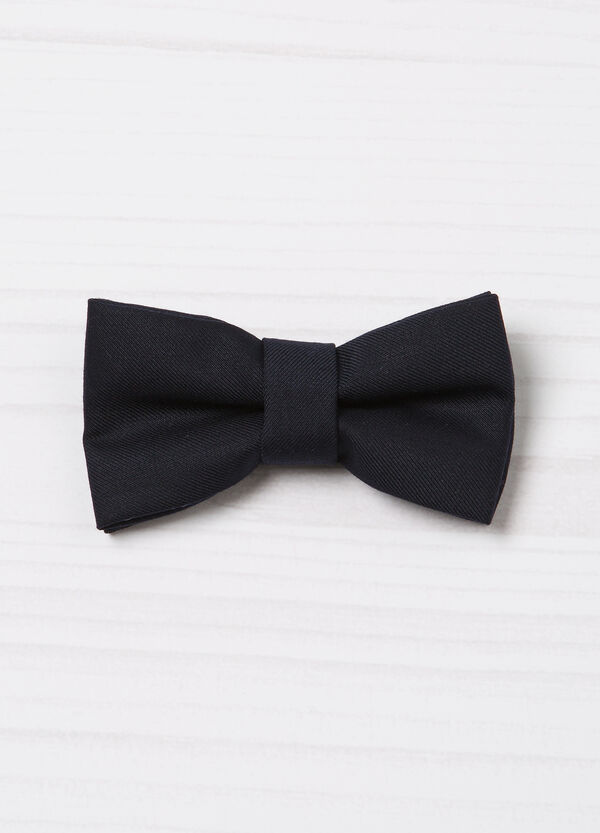 Solid colour bow tie with stripes | OVS