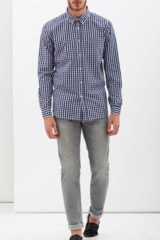 Camicia a quadretti in due colori, Bianco/Nero, hi-res