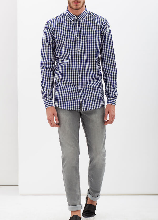 Two-tone check shirt | OVS