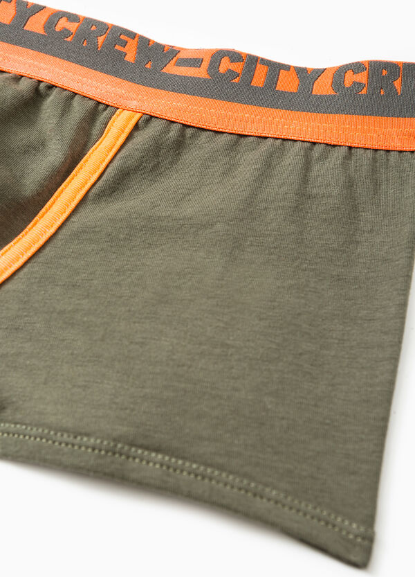 Boxer shorts in stretch cotton with printed lettering | OVS
