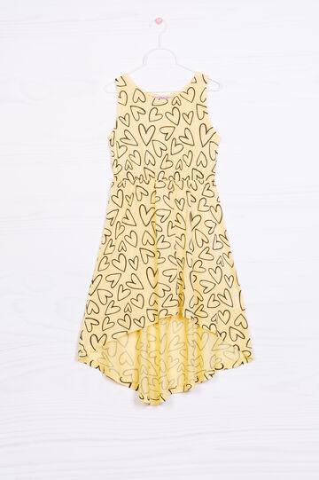 100% viscose printed dress, Yellow, hi-res