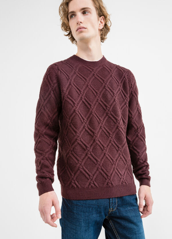 Knitted pullover with round neck | OVS