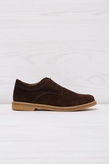 Suede shoes, Dark Brown, hi-res