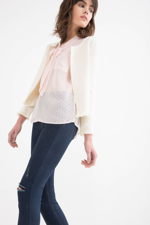 100% cotton embroidered jacket | OVS