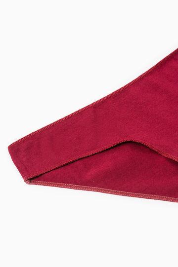 Slip cotone stretch tinta unita, Rosso scuro, hi-res
