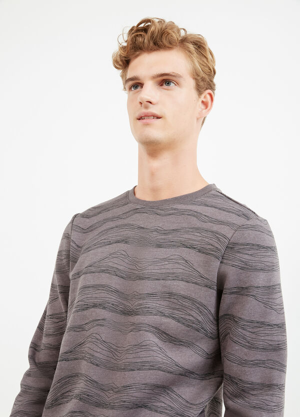 Cotton pullover with all-over print | OVS