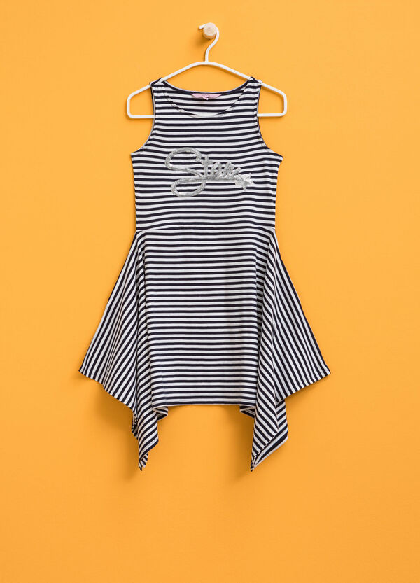 Striped sleeveless dress with sequins | OVS