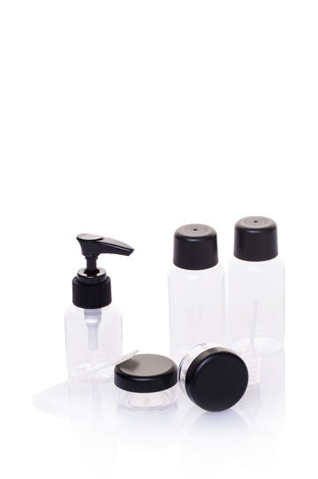 5-piece travel kit, Transparent, hi-res