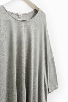 Smart Basic pleated viscose T-shirt, Grey, hi-res