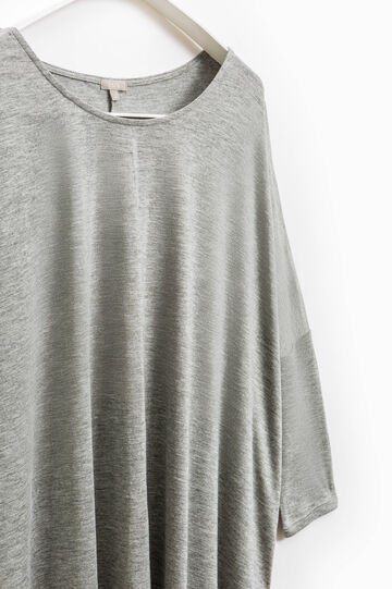 Smart Basic pleated viscose T-shirt, Grey, hi-res