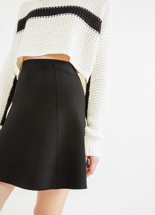 High-waisted skirt in viscose blend. | OVS