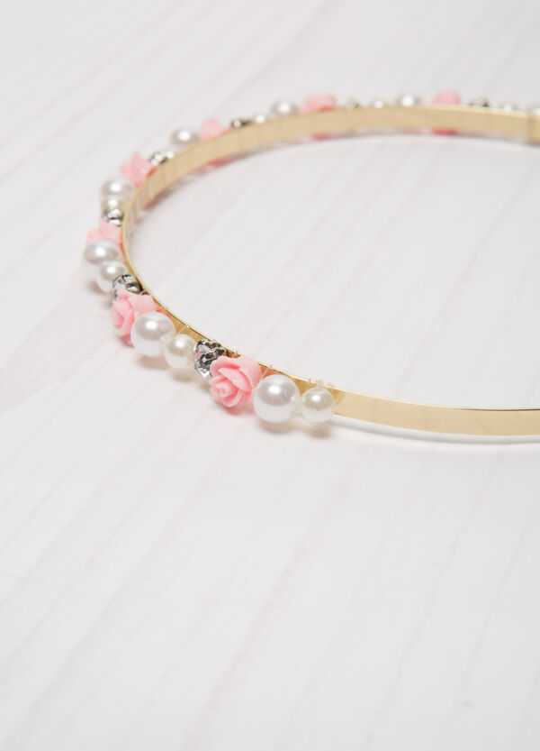 Hairband with diamantés and beads. | OVS