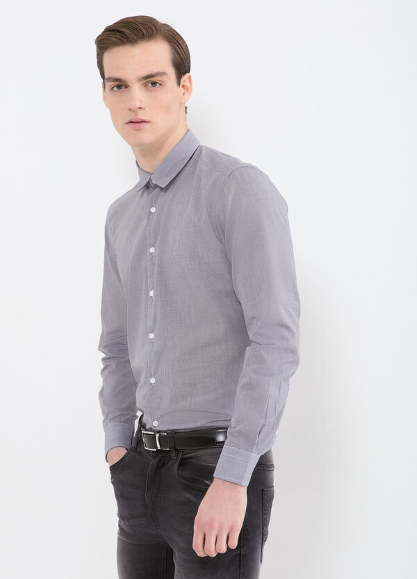 Check shirt in cotton blend | OVS