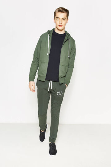 Solid colour hoodie, Green, hi-res