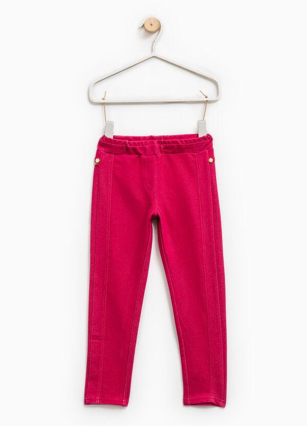 Solid colour 100% cotton jeggings | OVS