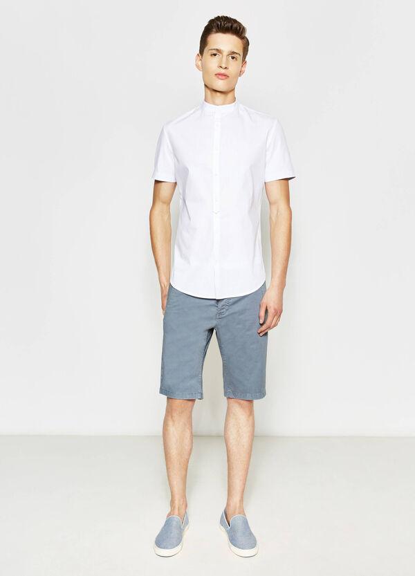 Slim fit, stretch cotton Bermuda shorts | OVS