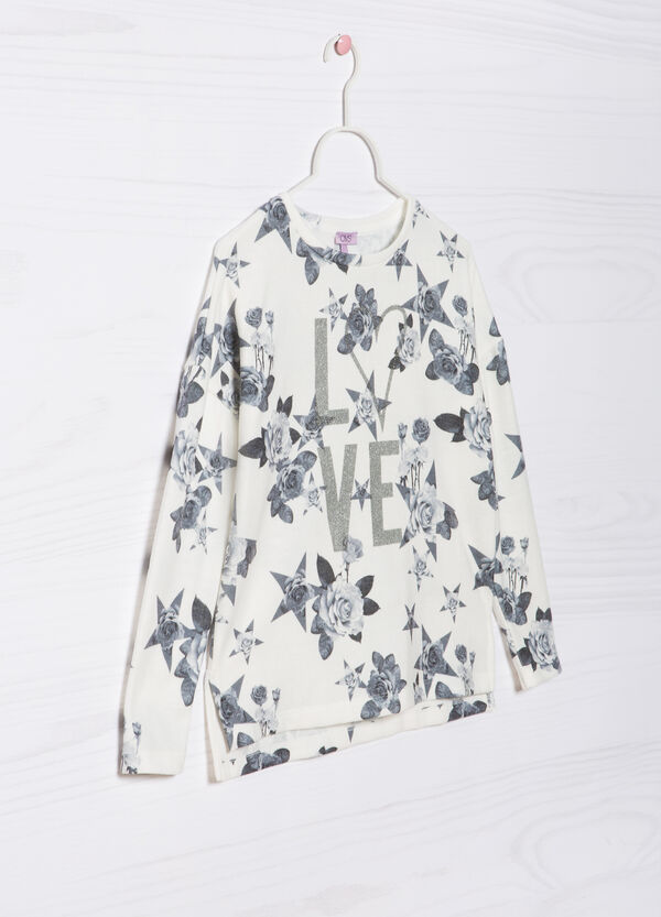 Glitter print patterned pullover   OVS