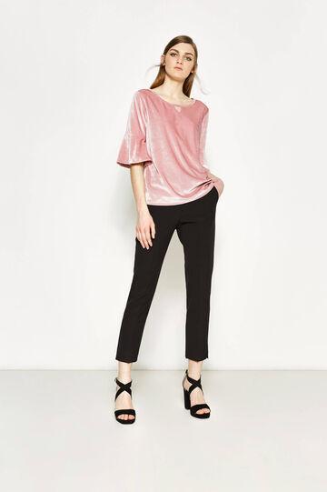 Stretch chenille T-shirt