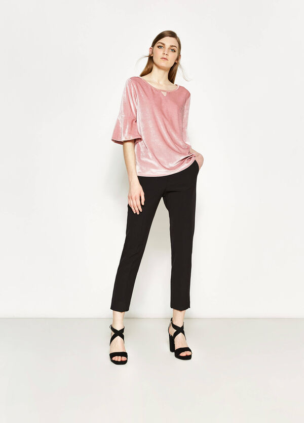 T-shirt in ciniglia stretch | OVS
