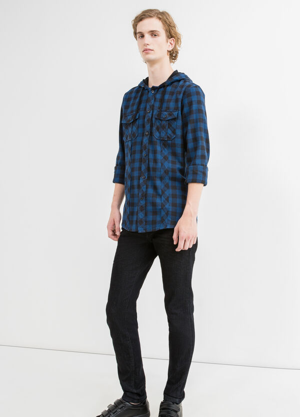 Slim-fit casual shirt with small double pocket | OVS