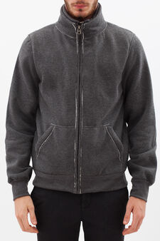 Hoodie with pouch pocket, Ash Grey, hi-res