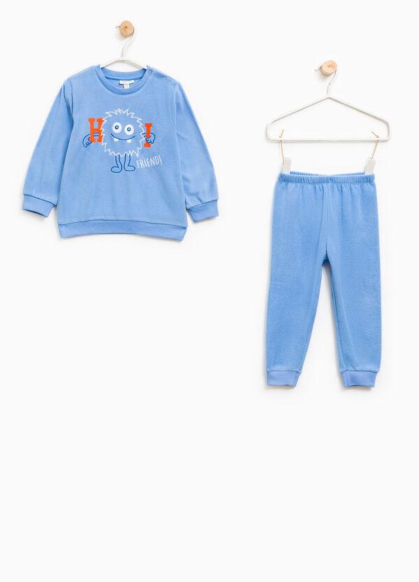 Fleece pyjamas with embroidery | OVS