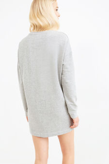 Short dress with Minnie Mouse print, Grey Marl, hi-res