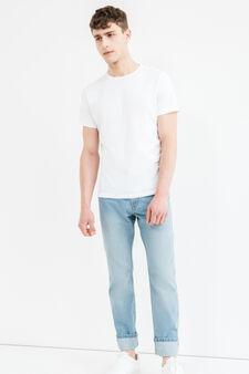 Jeans regular fit con risvolto, Lavaggio chiaro, hi-res