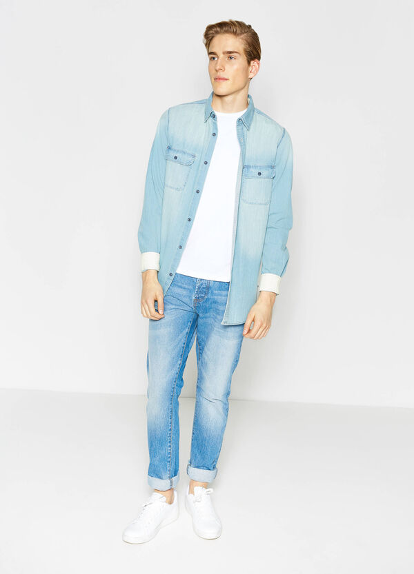 Casual denim shirt | OVS