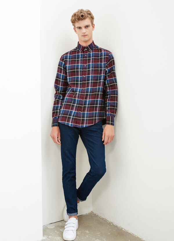 Camicia casual puro cotone quadri | OVS