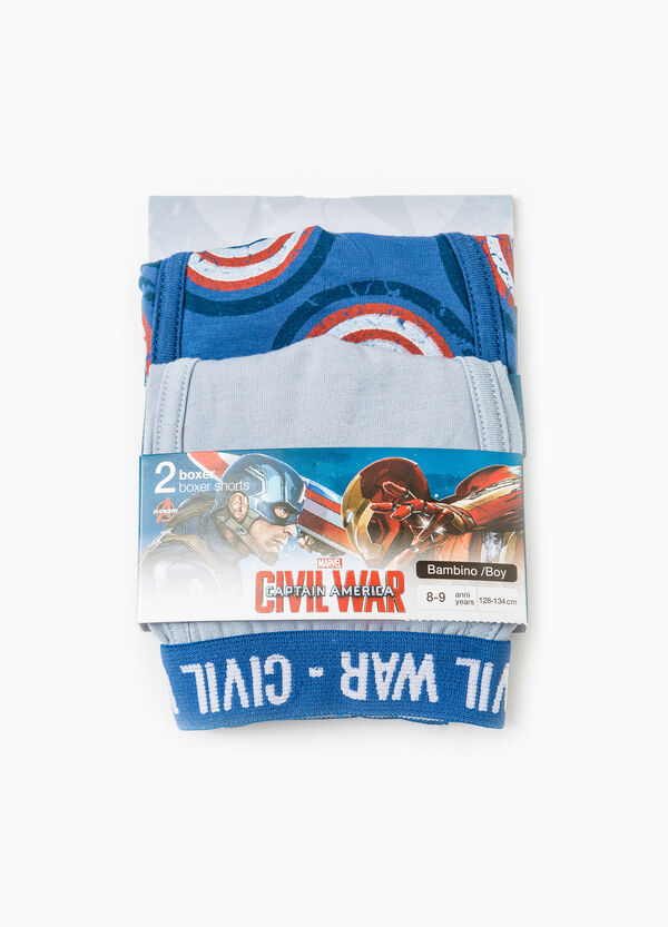 Stretch cotton boxers with Civil War print | OVS