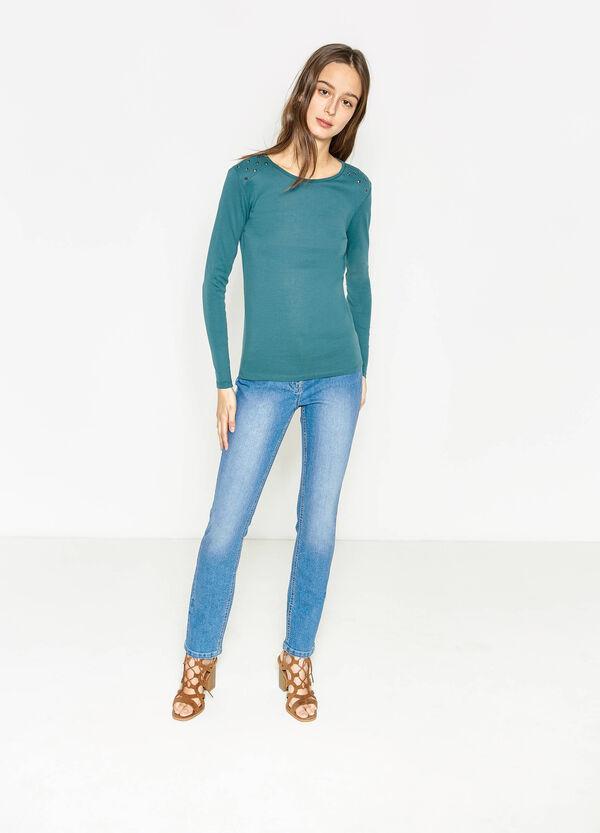 Camiseta en algodón 100% con tachuelas | OVS