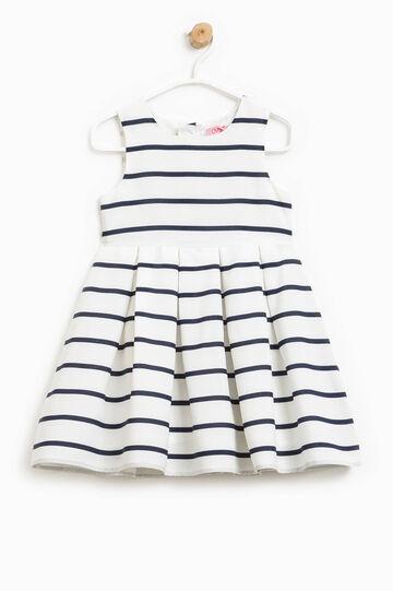 Striped sleeveless dress, White/Blue, hi-res