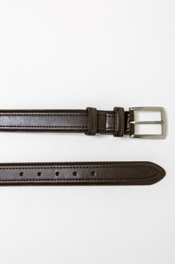 Strap with square buckle, Dark Brown, hi-res