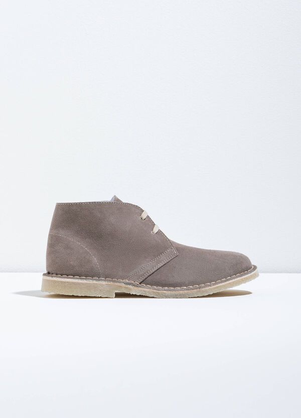 Suede leather ankle boots | OVS