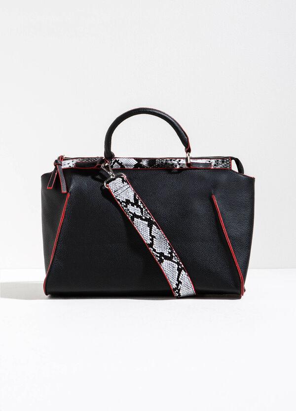 Handbag with snakeskin print | OVS