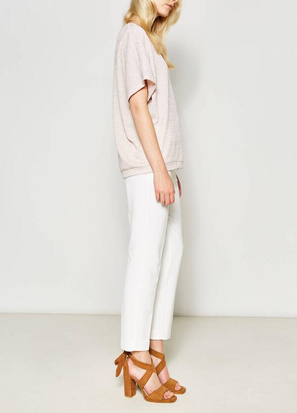 T-shirt stretch con lurex | OVS