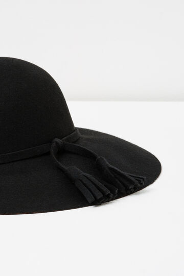 Felt hat with wide brim, Black, hi-res