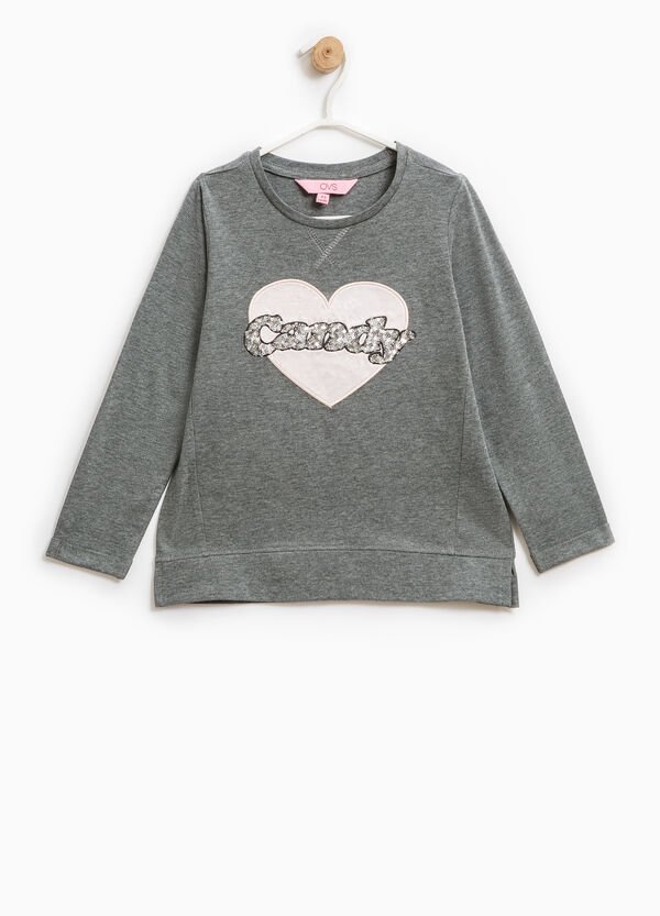 T-shirt with patches and sequins | OVS