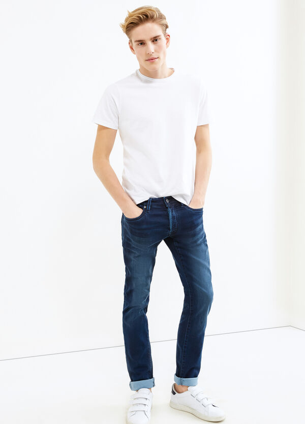 Faded effect slim-fit stretch jeans | OVS