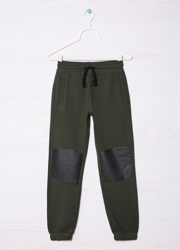 Cotton gym pants with patches | OVS