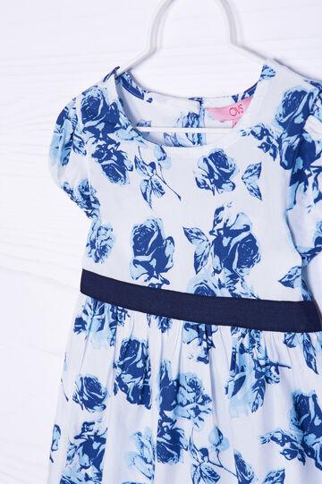 100% cotton floral dress, White, hi-res