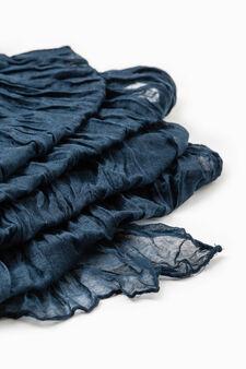 Pashmina effetto stropicciato, Blu, hi-res