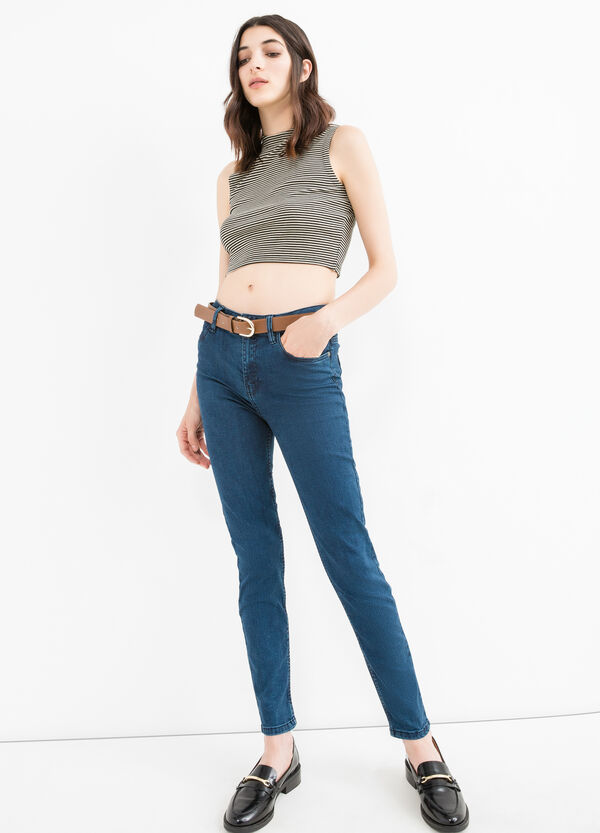 High-waist, skinny fit stretch jeans | OVS