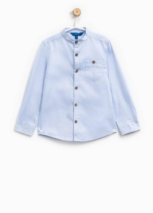 Cotton shirt with mandarin collar | OVS