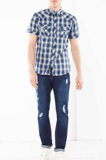 Camicia popeline G&H, Blu/Verde, hi-res