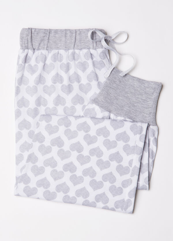 Cotton pyjama trousers with hearts | OVS