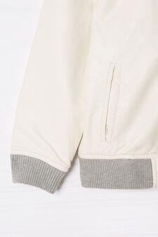 Giubbotto similpelle con cappuccio, Bianco, hi-res